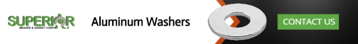 Aluminum Washers - Banner Ad - 728x90